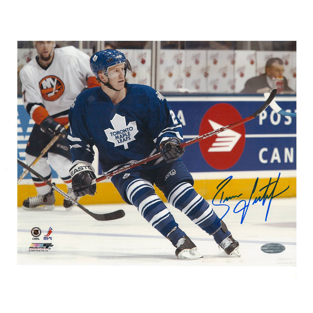 BRIAN LEETCH Signed Toronto Maple Leafs 8 X 10 Photo - 70275