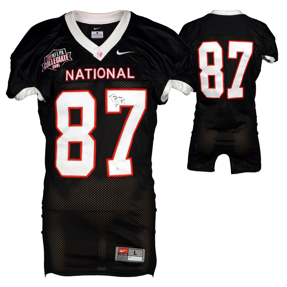 Tony Jones Northwestern Wildcats Autographed Game-Used NFLPA Collegiate Bowl Team National Black Jersey