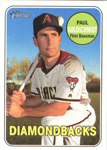 Photo of 2018 Topps Heritage #369 Paul Goldschmidt