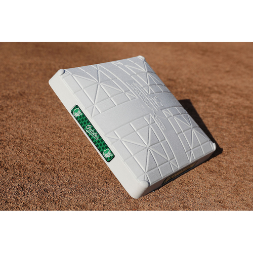 "Photo of Game Used ""Go Green"" St. Patrick's Day 1st Base"