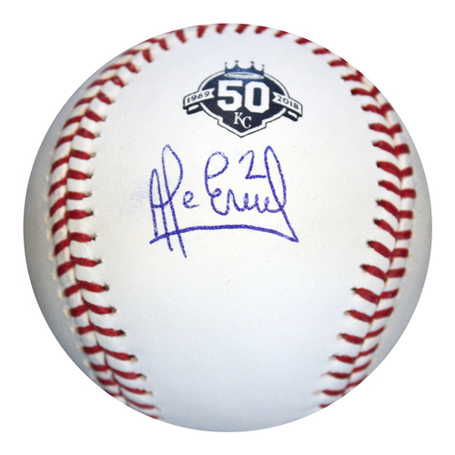 Photo of Autographed 50th Season Baseball: Alcides Escobar