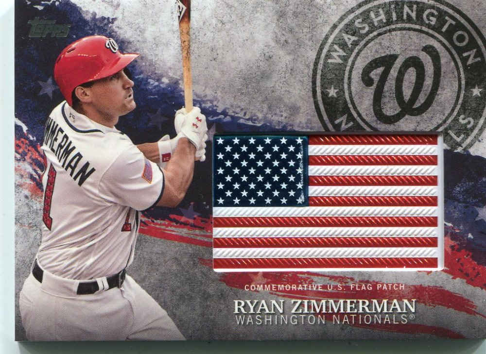 2018 Topps Independence Day U.S. Flag Relics #IDMLRZ Ryan Zimmerman