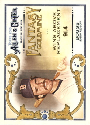 Photo of 2018 Topps Allen and Ginter Fantasy Goldmine #FG24 Wade Boggs