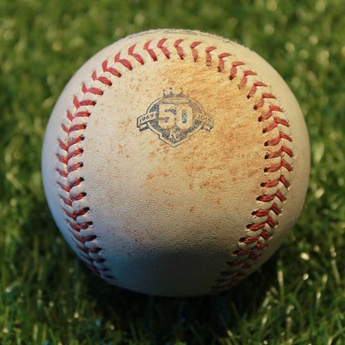 Game-Used Baseball: Logan Forsythe 680thth Career Hit (9/16/18 - MIN @ KC)