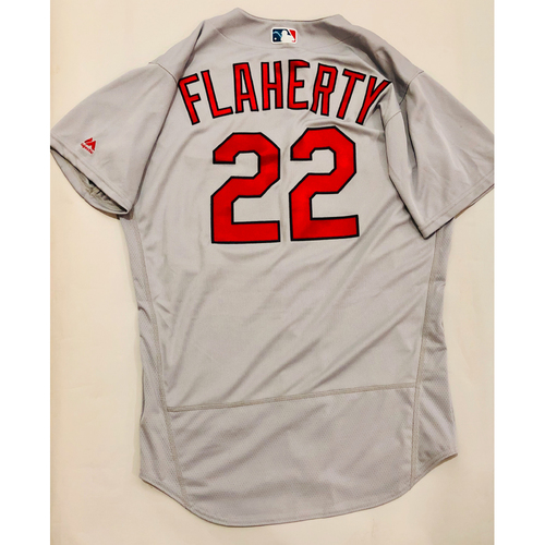 Photo of 2019 Mexico Series Game Used Jersey - Jack Flaherty Size 46 (St. Louis Cardinals)