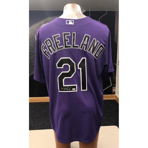 Photo of Colorado Rockies Kyle Freeland Autographed Jersey: Alternate Purple