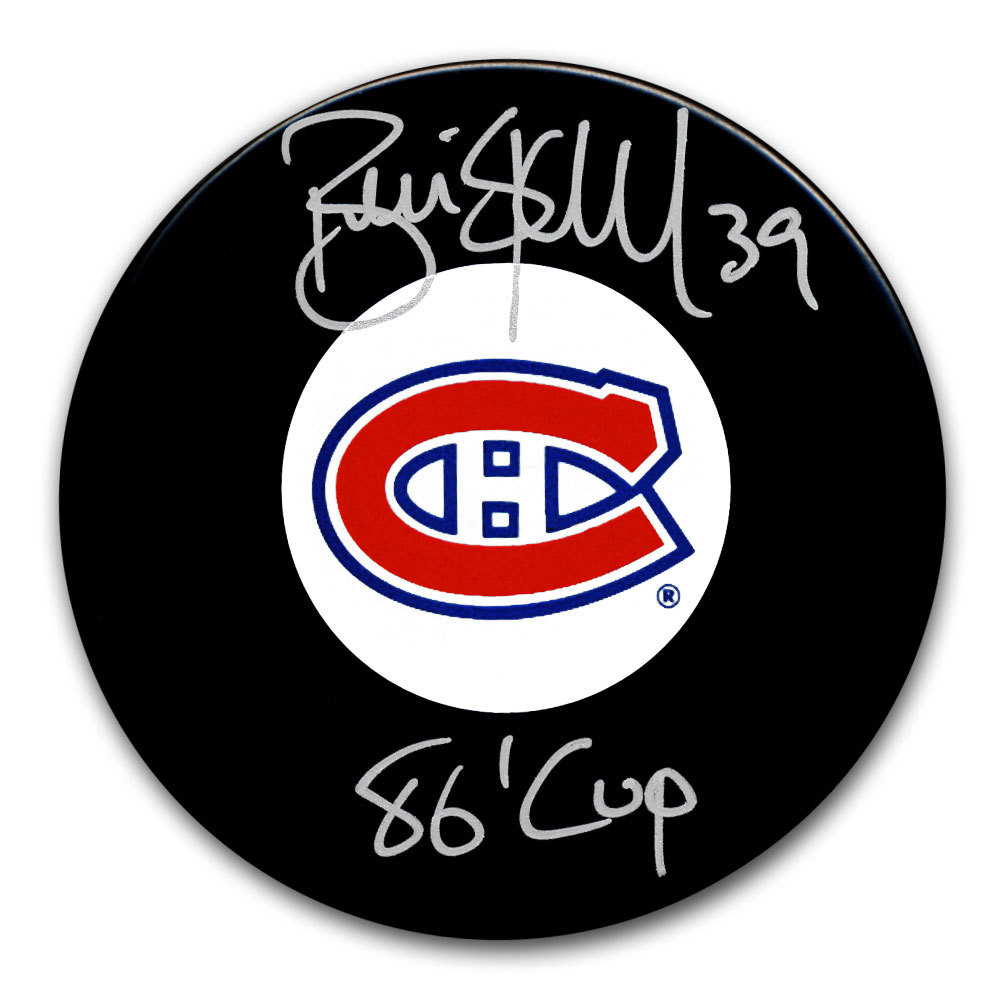 Brian Skrudland Montreal Canadiens 1986 Cup Autographed Puck