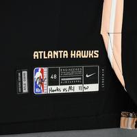 De'Andre Hunter - Atlanta Hawks - Game-Worn City Edition Jersey - 2019-20 Season - 1st Career Double-Double - Scored 27 Points