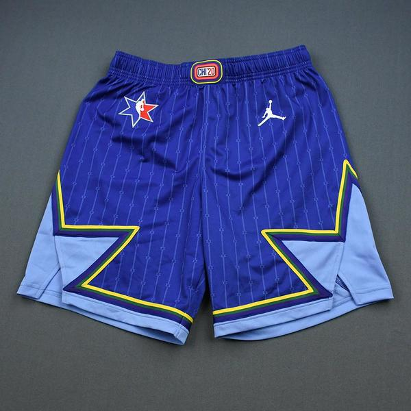 Image of LeBron James - 2020 NBA All-Star - Game-Worn Shorts - Team LeBron - 1st and 2nd Quarter - NBA Record 16th All-Star Game Start