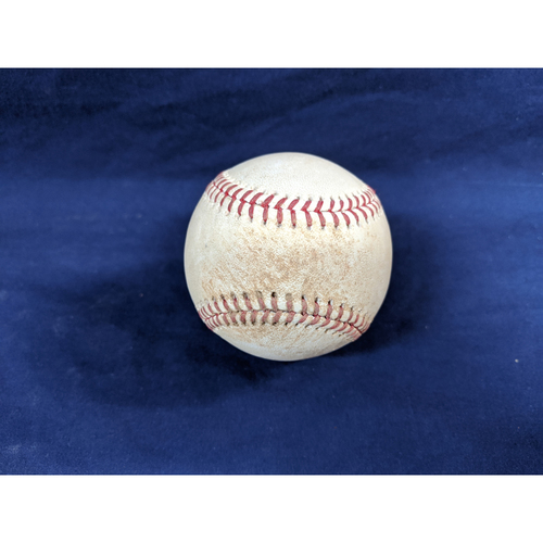 Photo of Game Used Baseball: Pitcher: Corbin Burnes, Batter: Austin Barnes - Single - Bot 4 - 4-12-2019 vs. MIL