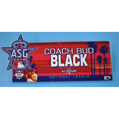 Photo of Game-Used Locker Tag - 2010 All-Star Game - Bud Black