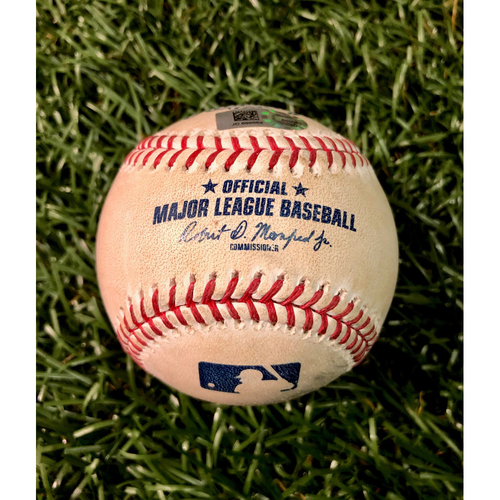 Photo of Game Used Baseball: Jackie Bradley Jr. strike out & Rafael Devers single off Ryan Yarbrough - September 22, 2019 v BOS