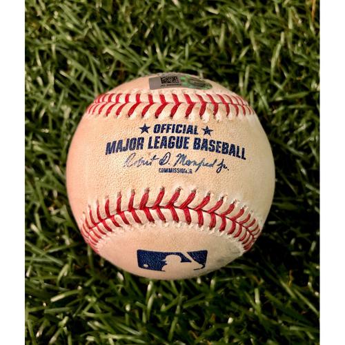 Photo of Game Used Baseball: Jackie Bradley Jr. strike out & Rafael Devers single off Ryan Yarbrough - September 22, 2019 v BOS