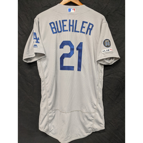Photo of Walker Buehler Team-Issued 2019 Road Jersey