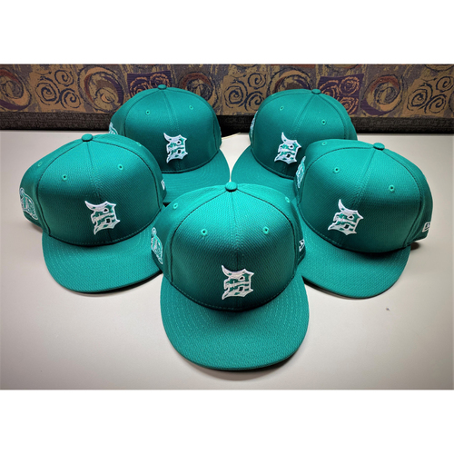 Photo of Detroit Tigers 2021 St. Patrick's Day Game-Used Green Cap Collection #5:  Baddoo, Schoop, Paredes, Garcia, and Garneau (MLB AUTHENTICATED)