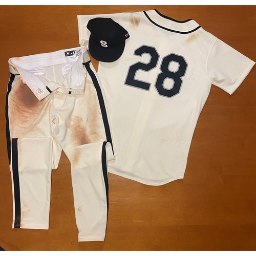 Photo of 2021 Game Used Seattle Steelheads Salute to Negro Leagues Uniform - #28 Jake Fraley