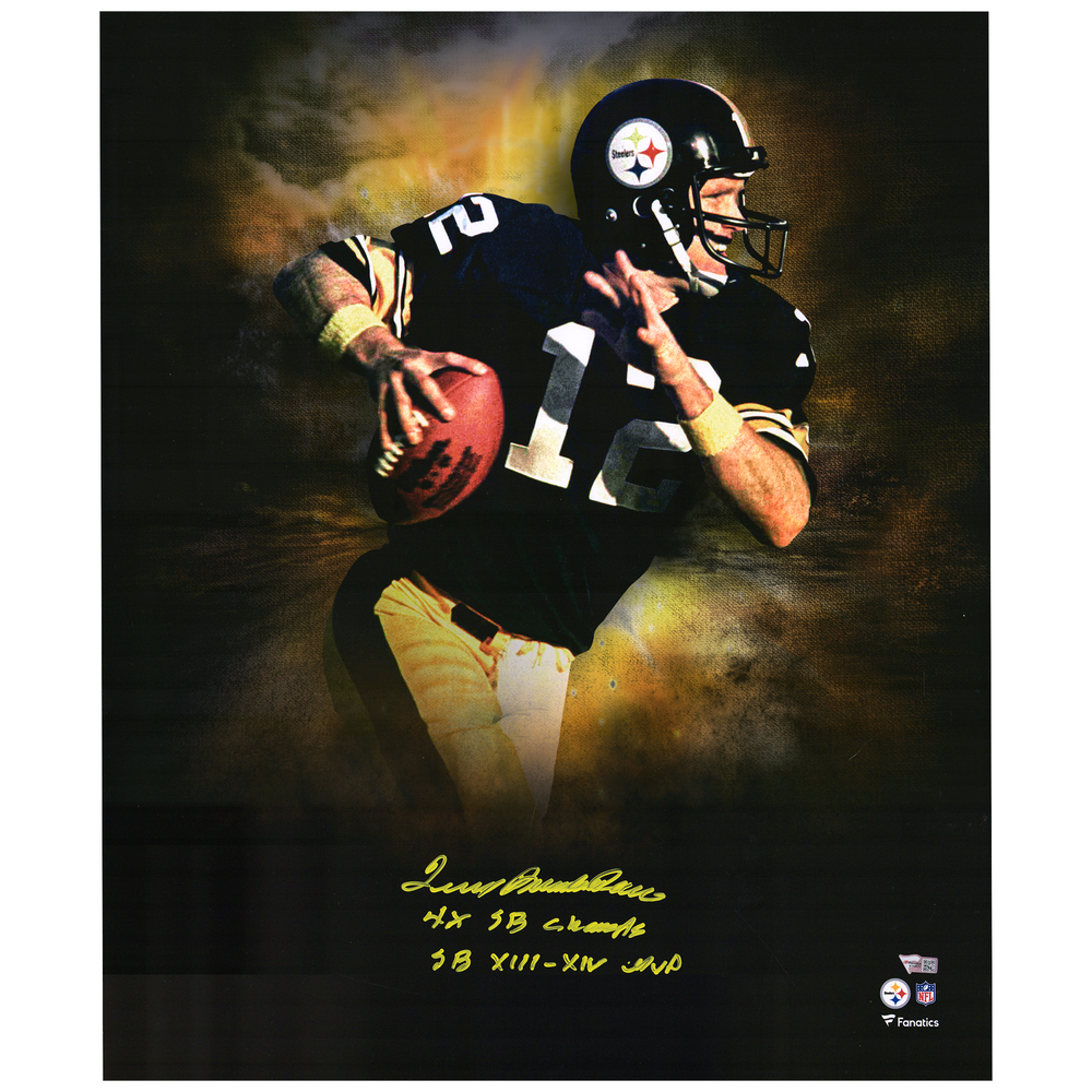 Terry Bradshaw Pittsburgh Steelers Signed & Multi-Inscribed 20'' x 24'' Photo - Limited Edition #12/12