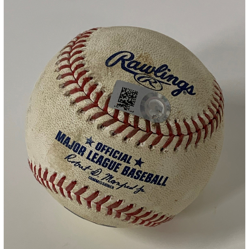 Game Used Baseball - 9/8/2020 Royals at Indians - Whit Merrifield Homers off Pitcher Triston McKenzie