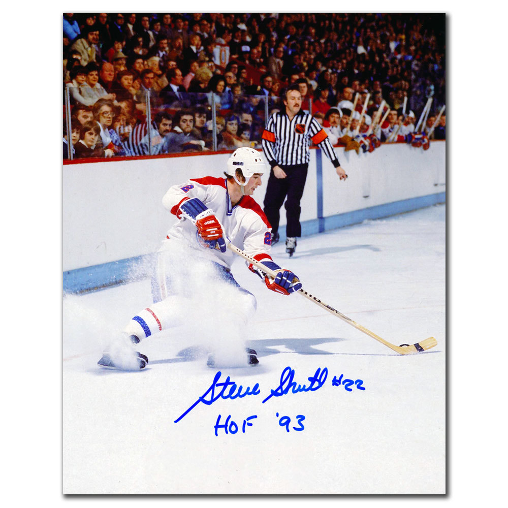 Steve Shutt Montreal Canadiens HOF Autographed 8x10