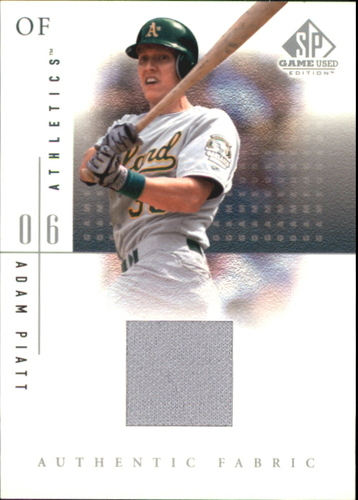Photo of 2001 SP Game Used Edition Authentic Fabric #AP Adam Piatt