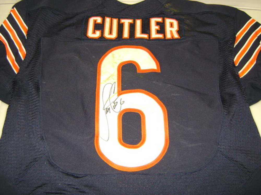 NFL Auction | STS - BEARS JAY CUTLER GAME WORN AND SIGNED BEARS ...
