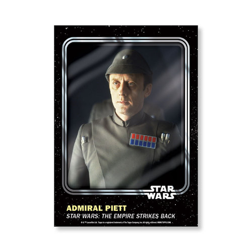 Admiral Piett 2016 Star Wars Card Trader Base Poster - # to 99