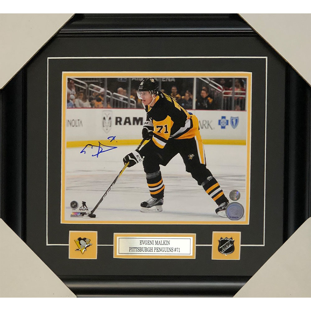 Evgeni Malkin Autographed Pittsburgh Penguins Framed 8X10 Photo