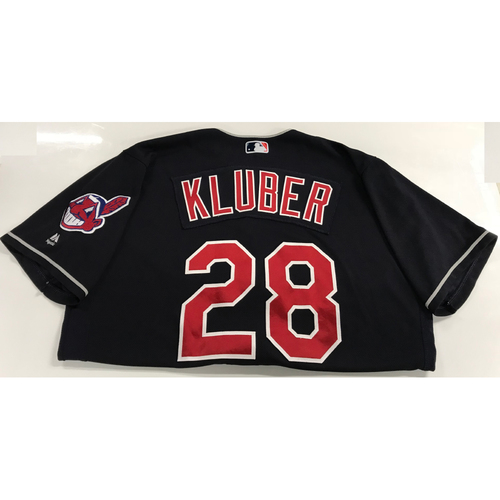 Photo of Cory Kluber Game-Used 2018 Opening Day Jersey (Road 3/29 @ SEA)