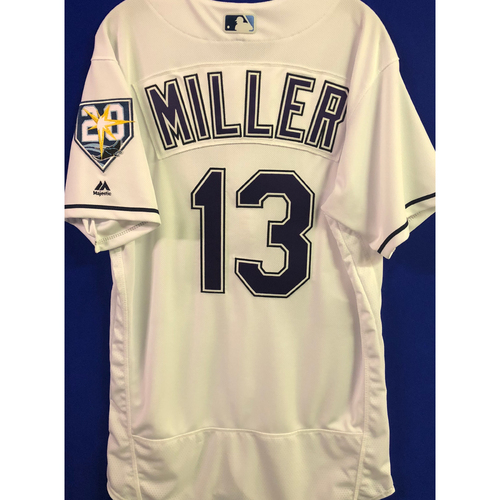 Photo of 20th Anniversary Team Issued Tampa Bay Devil Rays Jersey: Brad Miller
