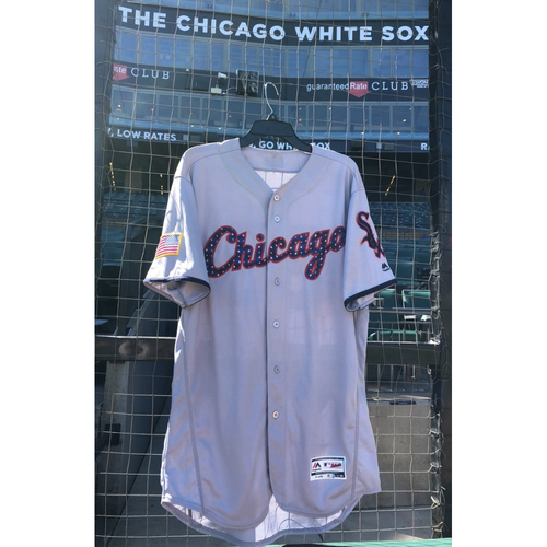 Photo of Lucas Giolito Game-Used Stars & Stripes Jersey - Size 48