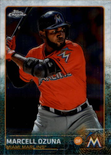 Photo of 2015 Topps Chrome #182 Marcell Ozuna