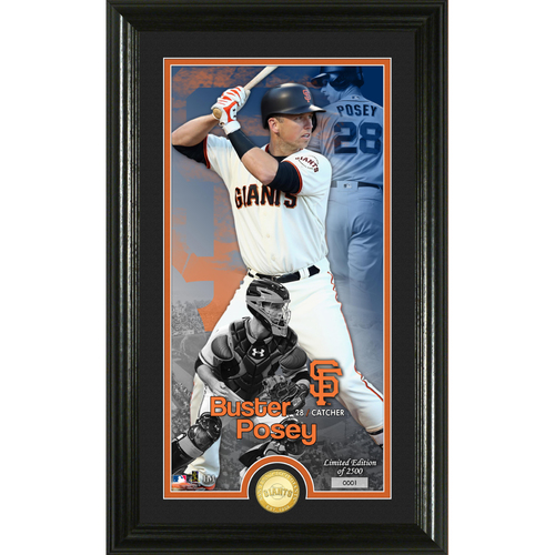 Photo of Buster Posey Supreme Bronze Coin Photo Mint