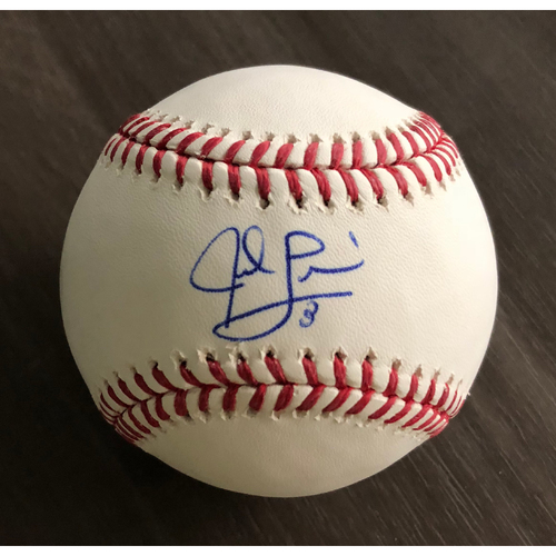 Photo of Jed Lowrie Autographed Baseball