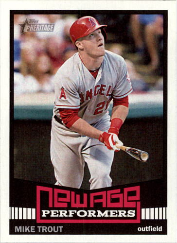 Photo of 2015 Topps Heritage New Age Performers #NAP5 Mike Trout