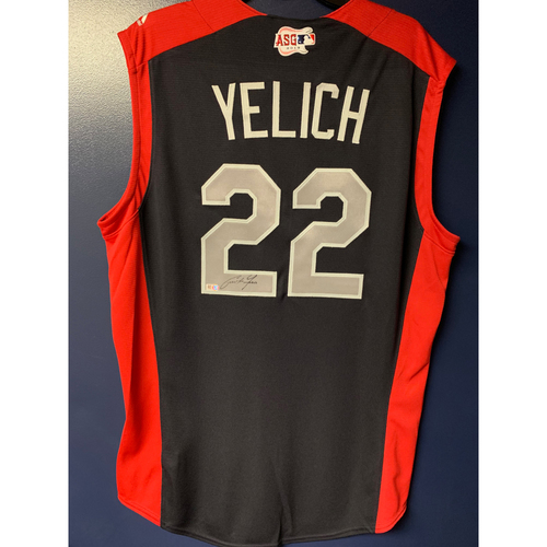 Photo of Christian Yelich 2019 Major League Baseball Workout Day Autographed Jersey