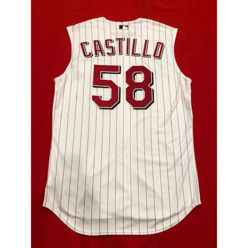 Luis Castillo -- Team-Issued 1999 Throwback Jersey -- Mets vs. Reds on Sept. 22, 2019 -- Jersey Size 46