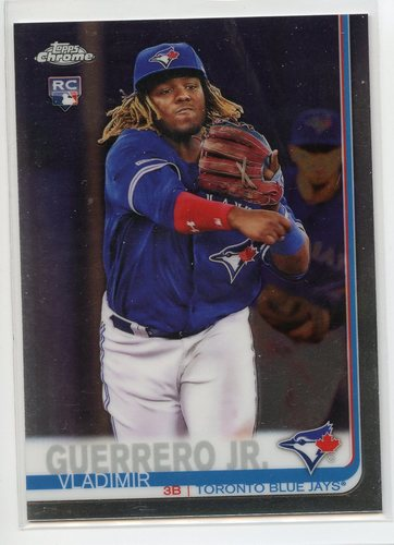 Photo of 2019 Topps Chrome Update #21 Vladimir Guerrero Jr. Rookie Card