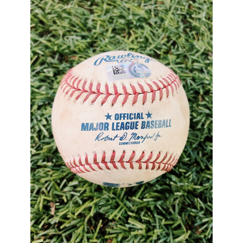 Photo of Game-Used Baseball - Eduardo Escobar Double vs. Madison Bumgarner - 8/18/19