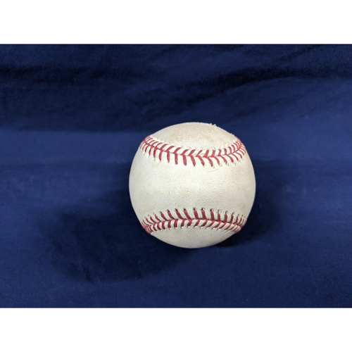 Photo of Game Used Baseball: Pitcher: Scott Kazmir, Batter: Melvin Upton Jr. - Home Run - Top 2 - 7-8-2016 vs. SD