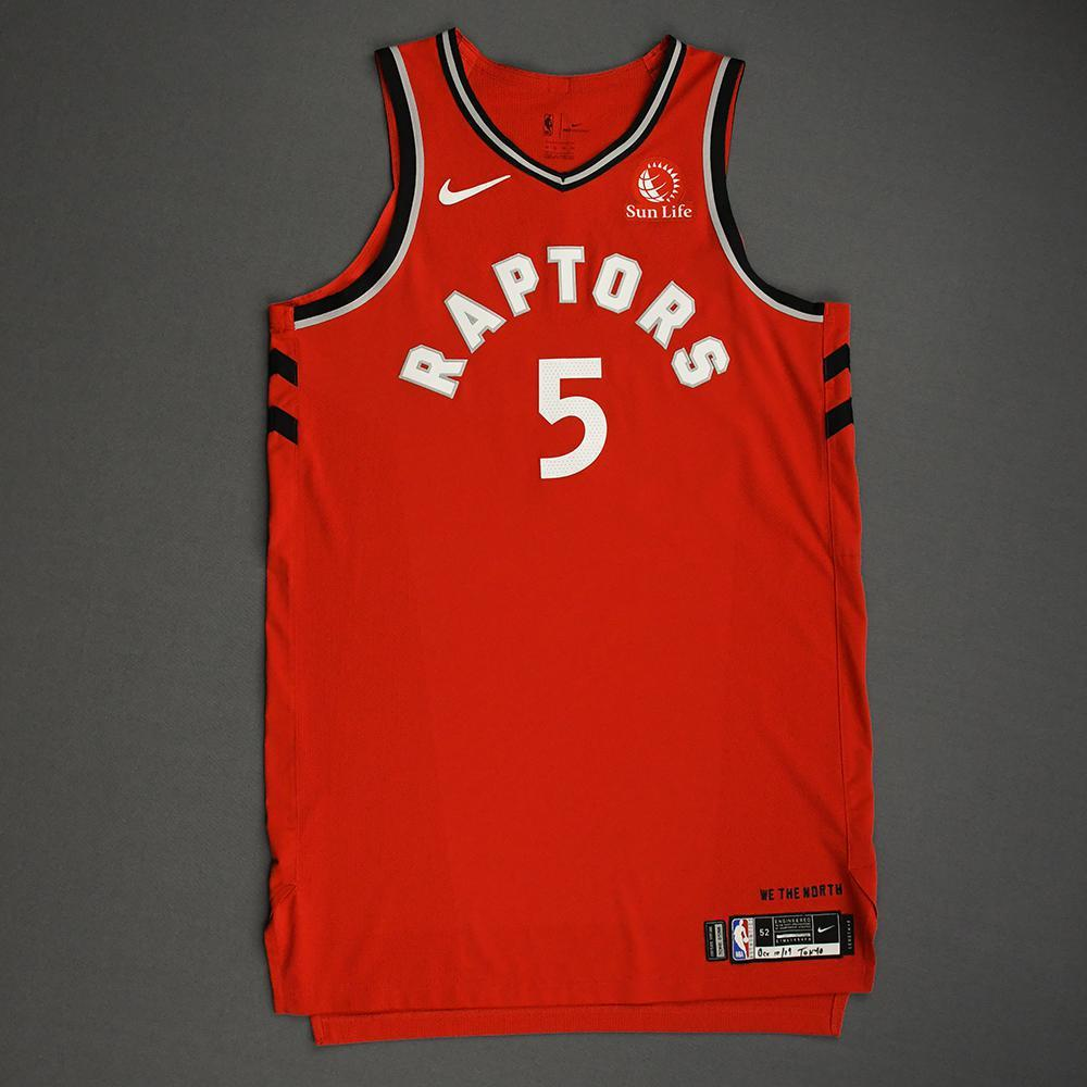 Stanley Johnson - Toronto Raptors - Game-Worn Icon Edition Jersey - NBA Japan Games - 2019-20 NBA Season