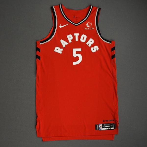 Image of Stanley Johnson - Toronto Raptors - Game-Worn Icon Edition Jersey - NBA Japan Games - 2019-20 NBA Season