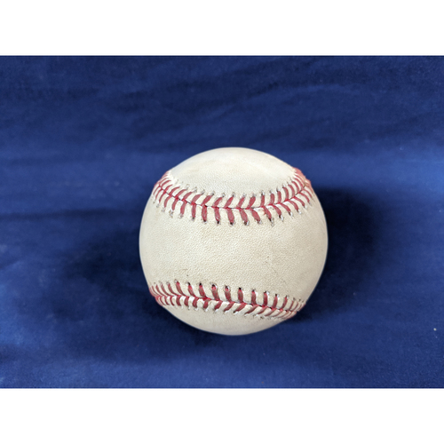 Photo of Game Used Baseball: Pitcher: Taylor Cole, Batter: Justin Turner - Walk - Bot 1 - 7-23-2019 vs. LAA