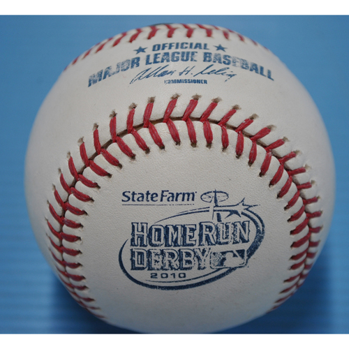 Game-Used Baseball - 2010 Home Run Derby - Corey Hart - Round 1, Out 4