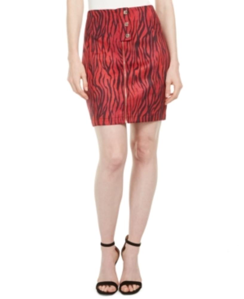 Photo of Guess Rayanna High-Waist Zebra-Print Miniskirt
