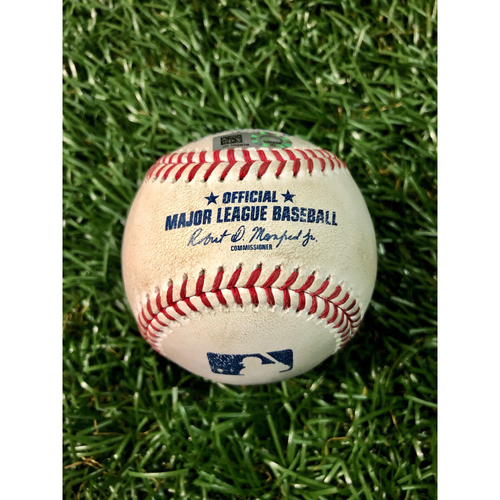 Photo of Game Used Baseball: Jose Martinez single off Wilmer Font - August 22, 2020 v TOR