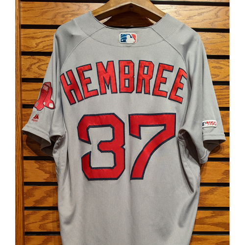 Photo of Heath Hembree #37 Game Used Road Gray Jersey
