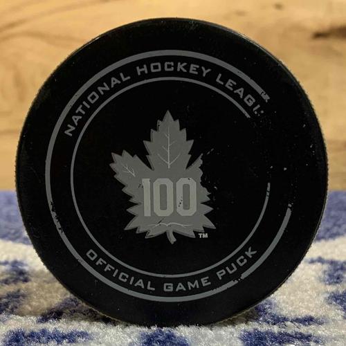 James van Riemsdyk 2nd NHL Career Hat-Trick Puck (Nov 15/16 vs NAS)