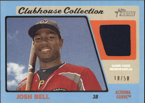 Photo of 2015 Topps Heritage Minors Clubhouse Collection Relics Blue #CCRJB Josh Bell