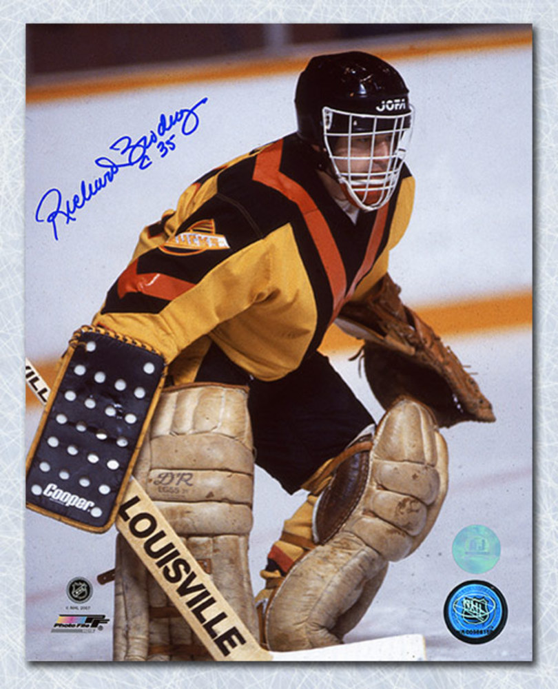 Richard Brodeur Vancouver Cancuks Autographed Goalie King 8x10 Photo