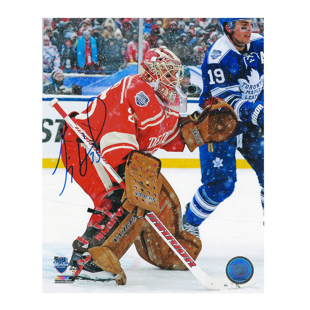 JIMMY HOWARD Signed 2014 NHL Winter Classic Detroit Red Wings 8 X 10 Photo - 70278